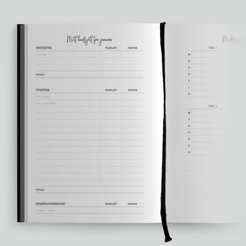 Planlegger 2021 – Get organized – Budsjett